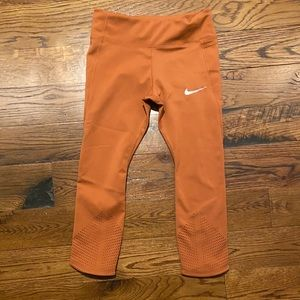 Nike dry fit running capris shorts perforated